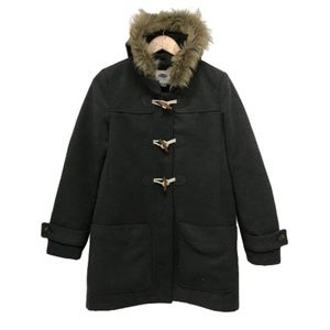 Old Navy Duffle Toggle Coat - Fur Hood Medium